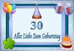 Karte Zum 30 Geburtstag Kostenlos Drucken | webwinkelvanmeurs