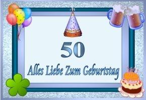 50 geburtstag for Geburtstagskarten gratis drucken