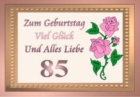 85 Geburtstag