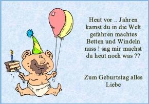 Geburtstagssprüche Lustig