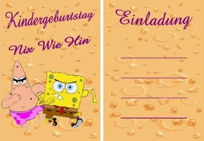 Spongebob Schwammkopf Postkarten